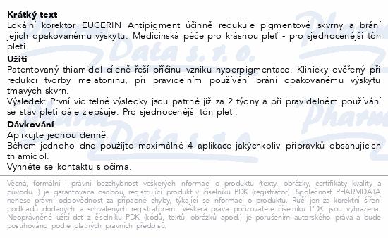 EUCERIN AntiPigment lokální korektor 5ml