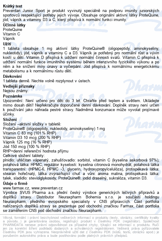 Preventan Junior Sport tbl.90
