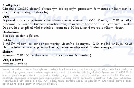 Swiss NatureVia Koenzym Q10 Forte 100mg cps.60