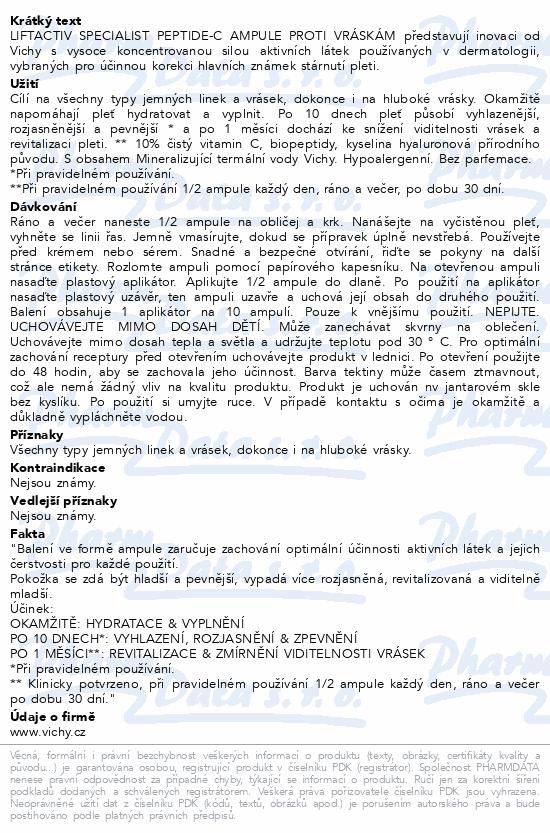 Vichy Liftactiv Specialist Peptide-C sérum 10 x 1,8 ml