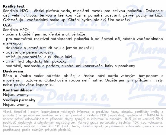 BIODERMA Sensibio H2O 500 ml Specialni Edice