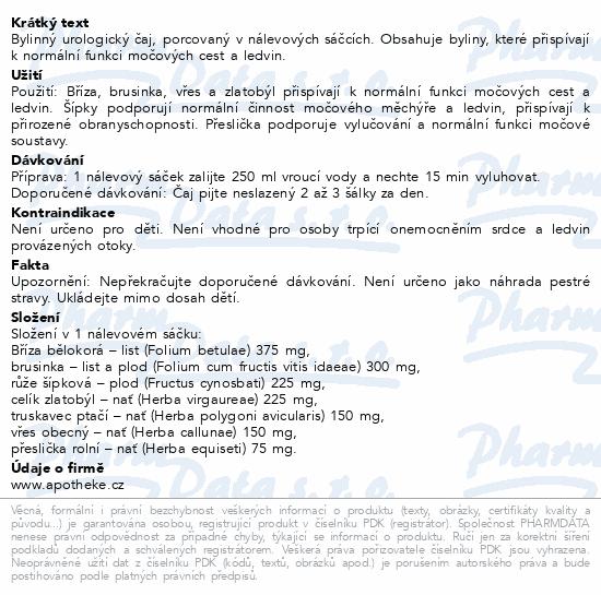 Apotheke Urolog akut s brusinkou čaj 20x1.5g