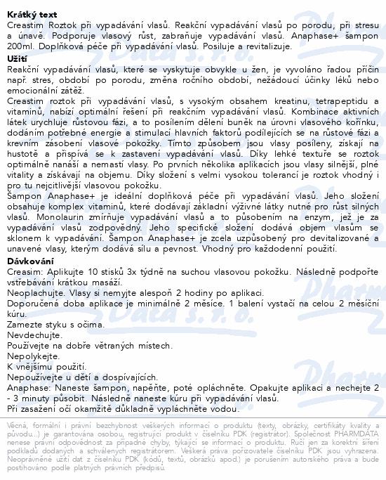 DUCRAY Creastim 2x30ml+Anaphase šampon 200ml
