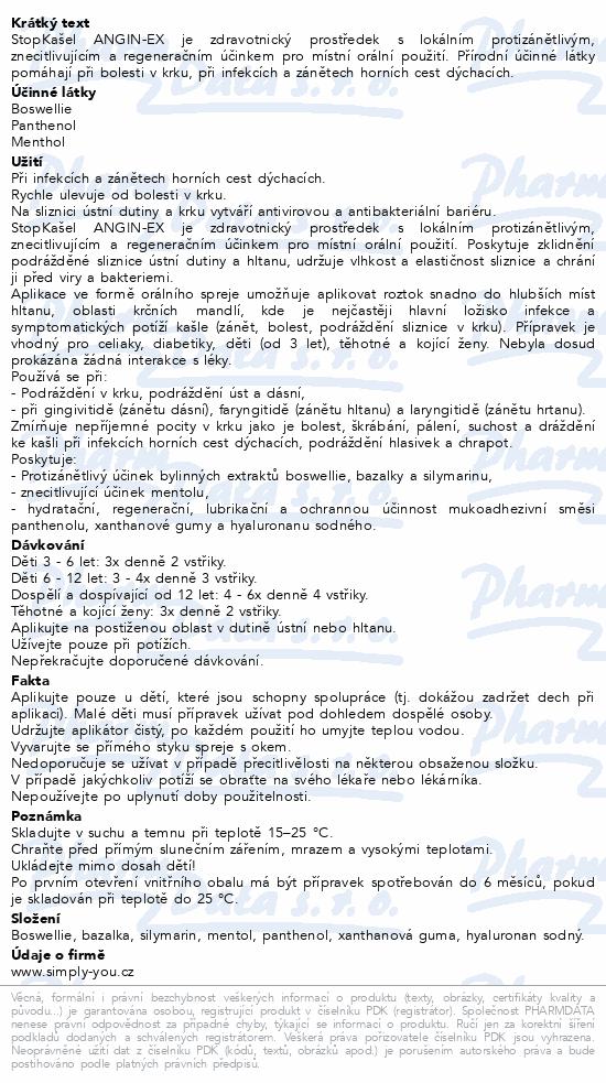Dr. Weiss STOPKAŠEL Angin-EX bylinný sprej 30 ml