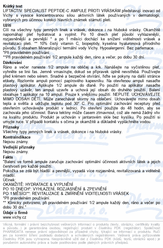 Vichy Liftactiv Specialist Peptide-C sérum 30 x 1,8 ml