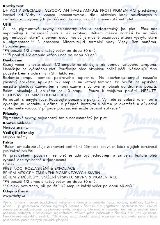 Vichy Liftactiv Specialist Glyco C ampule proti pigmentaci na noc 30 x 2 ml