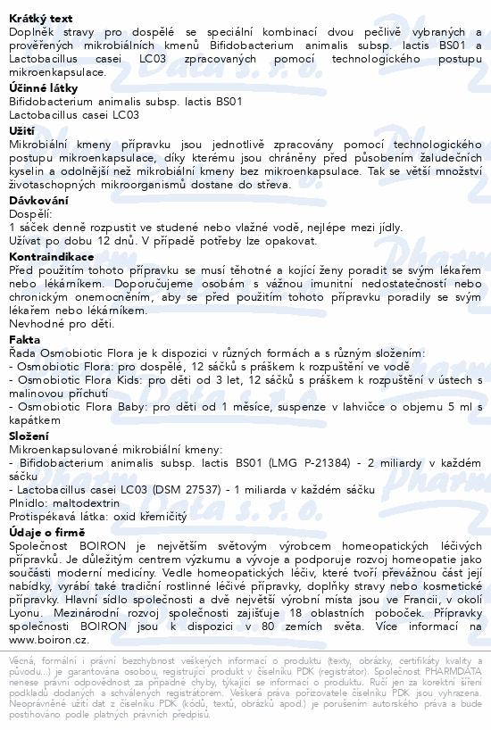 Boiron Osmobiotic Flora Adult 12 ks
