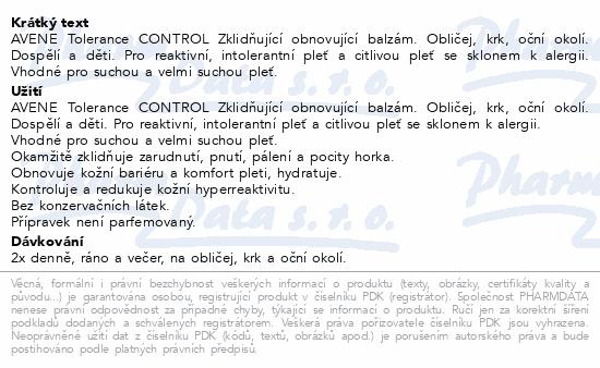 AVENE Tolerance CONTROL balzám 40ml