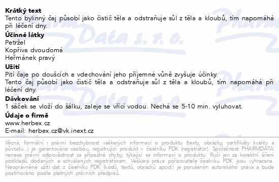 HERBEX Čaj čistící (ledvinový) n.s.20x3g