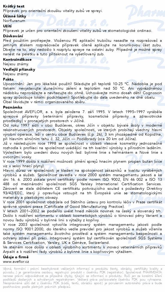 Cognoscin stm.spr. 75/120ml 90g