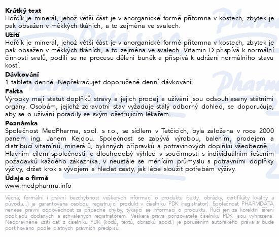 MedPharma Hořčík 300mg+vit.D3 tbl.107