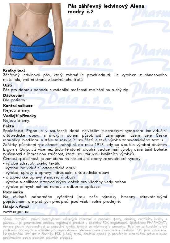 Máte dotaz k produktu Pás záhřevný ledvinový Alena modrý č.2 96f9449729