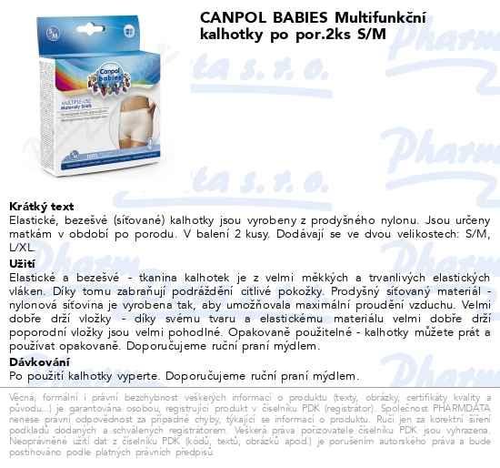 Máte dotaz k produktu CANPOL Multifunkční kalhotky po porodu 2ks S M 83d02a7201