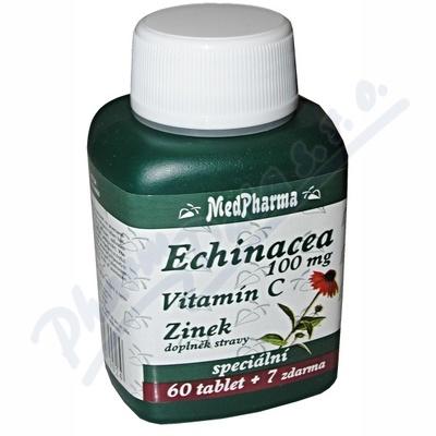 MedPharma Echinacea 100mg + vitamín C + zinek 67 tablet
