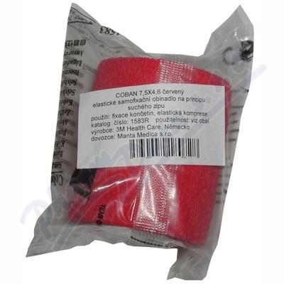 3M Coban elastické samofixační obinadlo 7.5cmx4.5m 1ks červené
