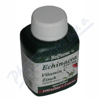 MedPharma Echinacea 100mg + vitamín C + zinek 107 tablet