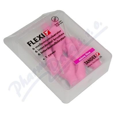 TANDEX mezizubní kartáček Flexi 0.4 mm růžový 6ks TA819071