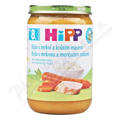 HIPP JUNIOR MENU rýže s karotkou a krůtím masem 220g