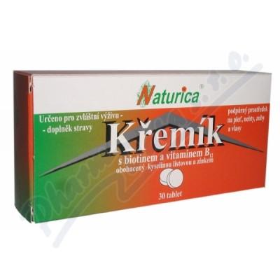 NATURICA Křemík s biotinem+vit.B12 tbl.30