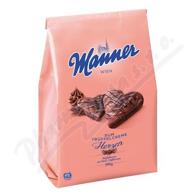 Manner Rum Herzen 300g Kakaovo-rumové srdce v čok.