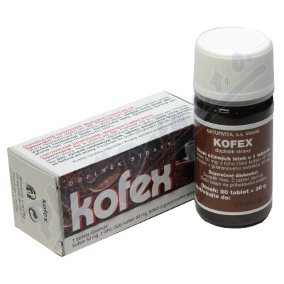 Kofex kofein a guarana 80 tablet