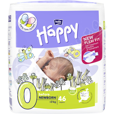 Bella Happy Before New Born dětské pleny 46 ks