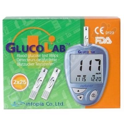 Testovací proužky pro glukometr GlucoLab 50ks