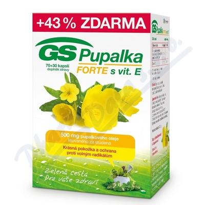 GS Pupalka Forte s vitaminem E 70 + 30 kapslí