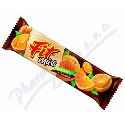 Müsli tyčinka FIT pomerančová v čokoládě 30g