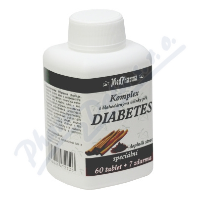 MedPharma Diabetes skořice alfa-lipoová a chrom 67 tablet