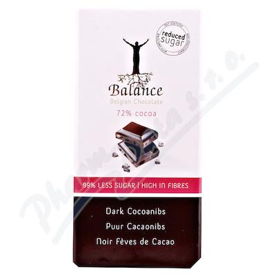 Balance 72% hořká čokoláda s kakaovými boby bez cukru 100g