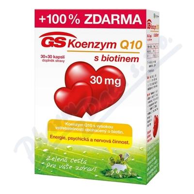 GS Koenzym Q10 30mg 30+30 tablet zdarma