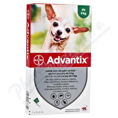 Advantix pro psy spot-on do 4kg 1x0.4ml