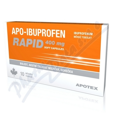 Apo-Ibuprofen Rapid 400mg 10 kapslí