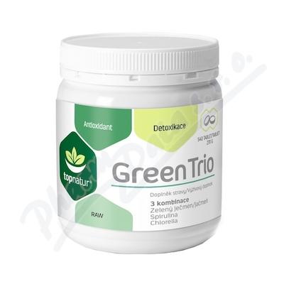 Green Trio Medicol Chlorella Spirulina a Zelený ječmen tbl.540