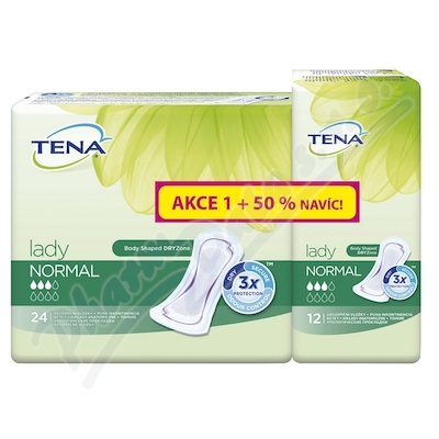 Inkontinenční vložky TENA Lady Normal 50% navíc