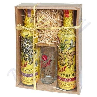 Kitl Syrob dárkové balení 2x500ml + sklenička