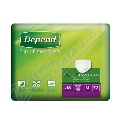 Inkontinentní kalhotky absorční prodyšné DEPEND Slip Super Pl.M 15ks