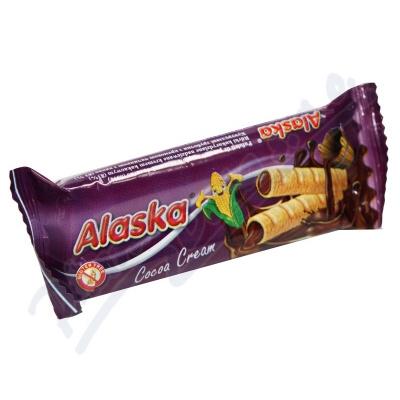 Bezlepkové kukuřičné trubičky Alaska kakaové 18g
