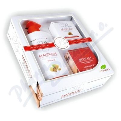 Body Tip MANDLOVÁ dárková kazeta tělové mléko+noční+denní krém
