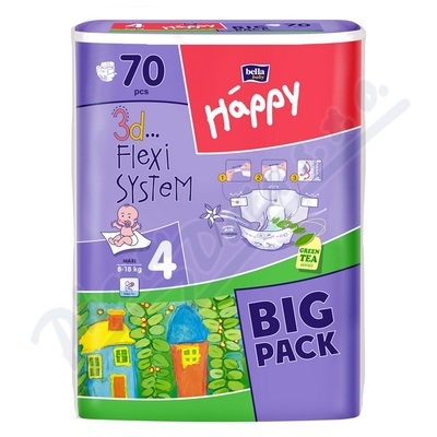 Happy Maxi dětské pleny 70ks
