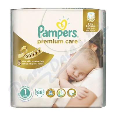 PAMPERS Premium Care Newborn 2-5kg 88ks