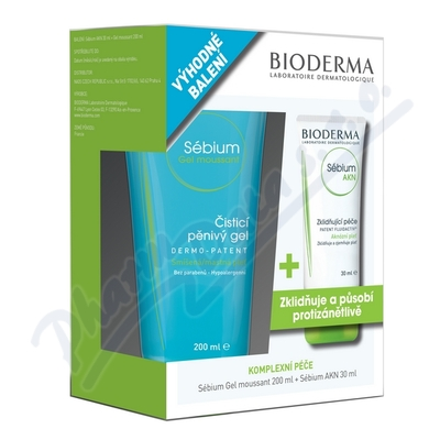 BIODERMA Sébium AKN Fluid 30ml + Gel moussant 200ml