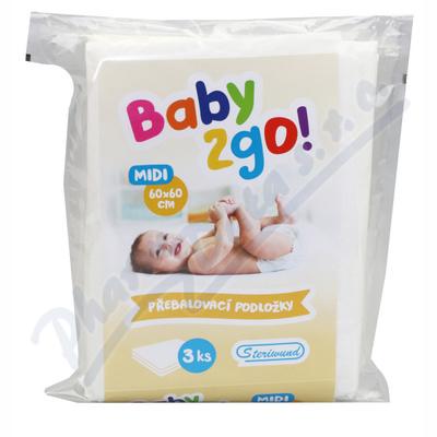 Přebalovací podložka Baby2go! 60x60cm/3ks Steriwund