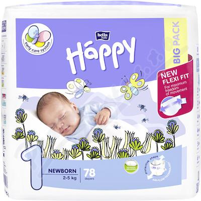 Happy Newborn dětské pleny 78ks