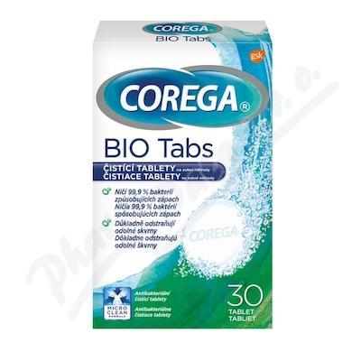 Corega Bio Antibakteriální tablety 30 ks