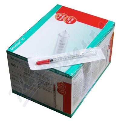 Injekční stříkačky insulinové 1ml/30x12/U40 Omnican 100ks