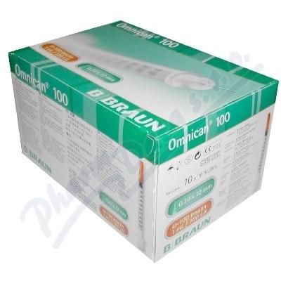 Injekční stříkačky insulinové 1.0ml/100 IU Omnican 100ks 9151141